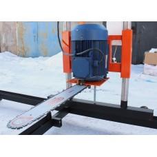 Пилорама шинная электрическая на базе двигателя